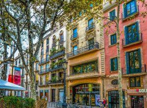 Uliczki w Barcelonie